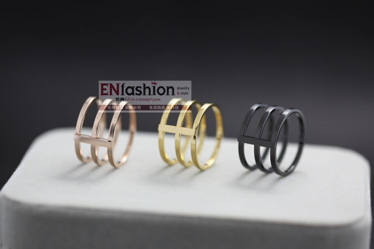 18KGP gold plated fashion 3pcs punk rings finger ring fashion midi ring 316L stainless steel jewelry wholesale free shipping-in Rings from Jewelry on Aliexpress.com