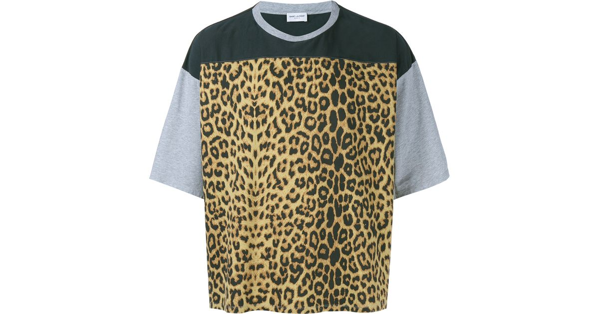 f9153cf4 Saint Laurent | Multicolor Distressed Leopard Print T-shirt for Men | Lyst