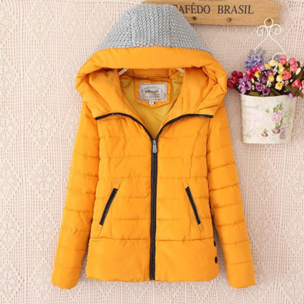 coat hood short slim