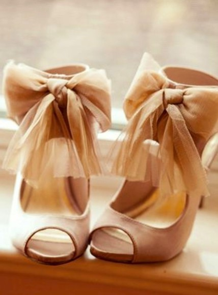 shoes bows high heels