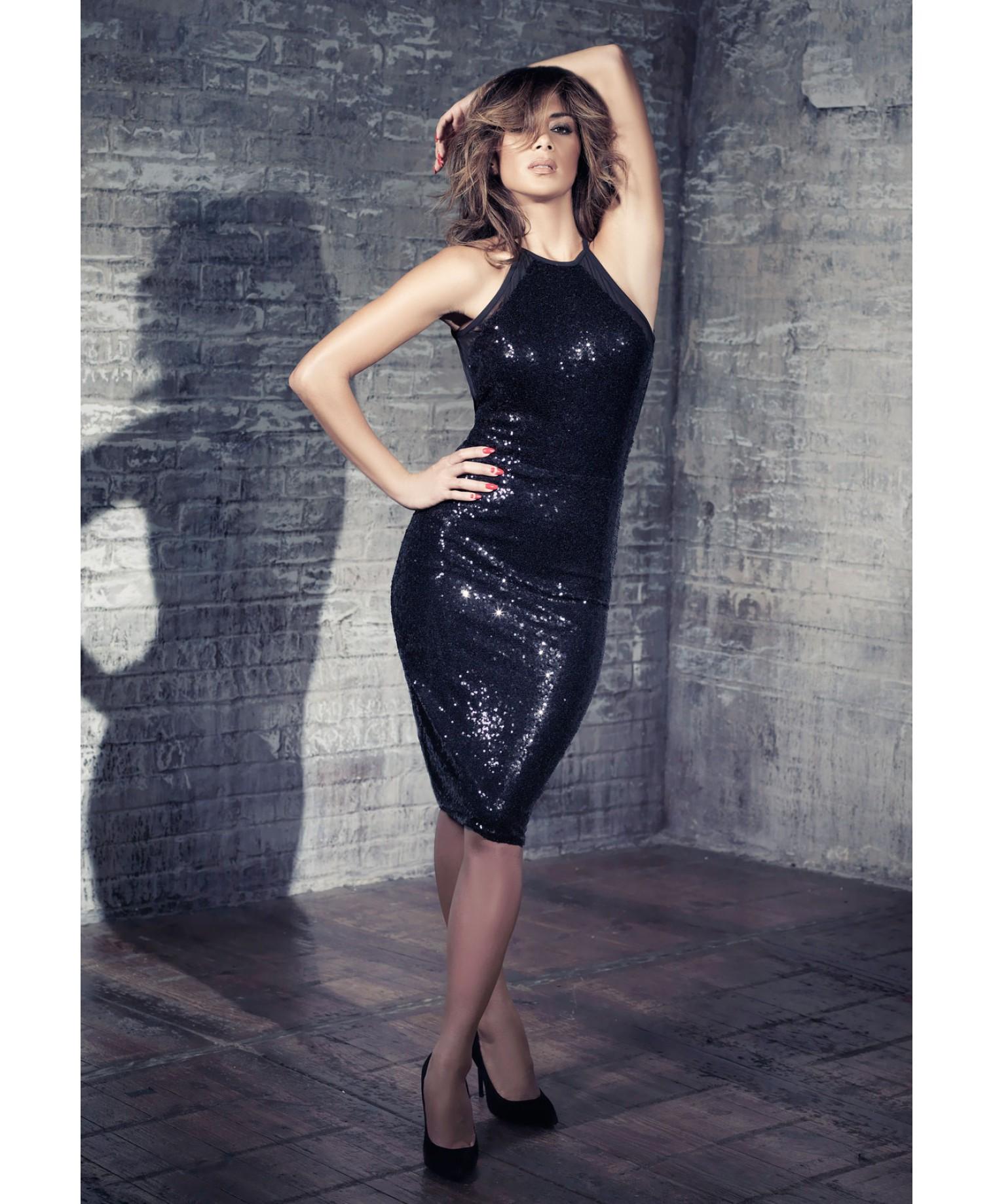 Missguided - Nicole X Sequin Mesh Midi Dress