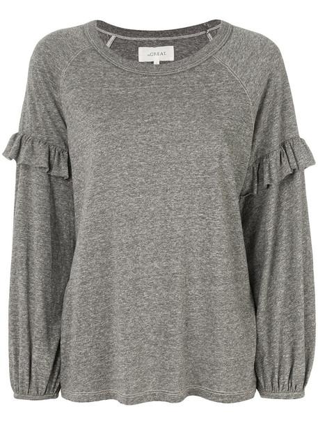 sweatshirt women cotton grey sweater