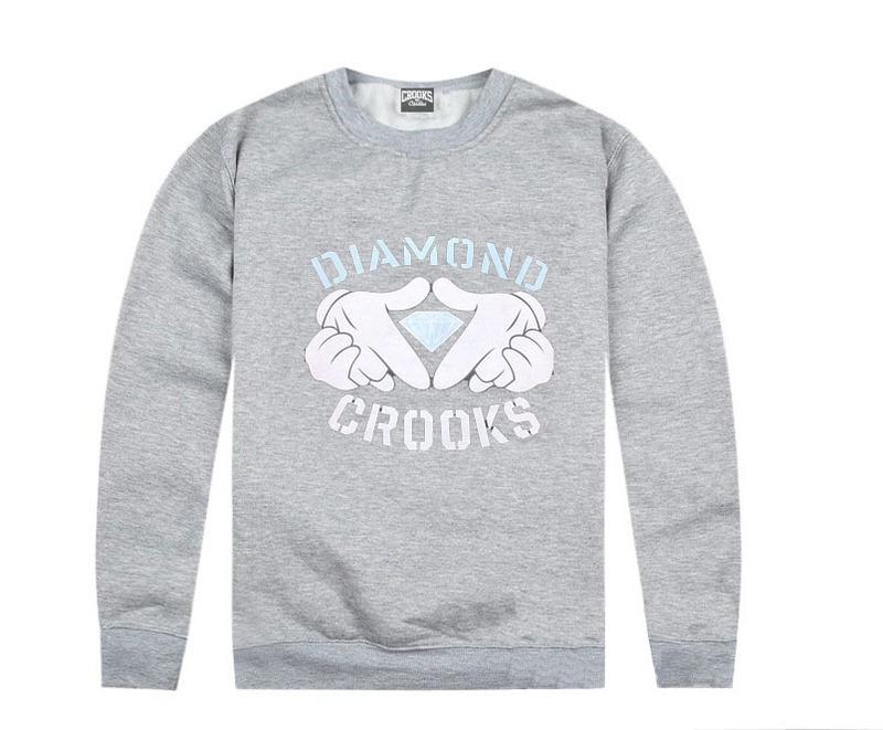 Diamond Crooks Grey Sweater Sweatshirts / Save 20% - 50% Off