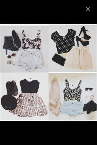 dress skirt chiffon crop tops top combat boots boots shades sunglasses bracelets polka dots t-shirt heels high heels wallet purse hat beach leopard print african print cardigan tank top corset top