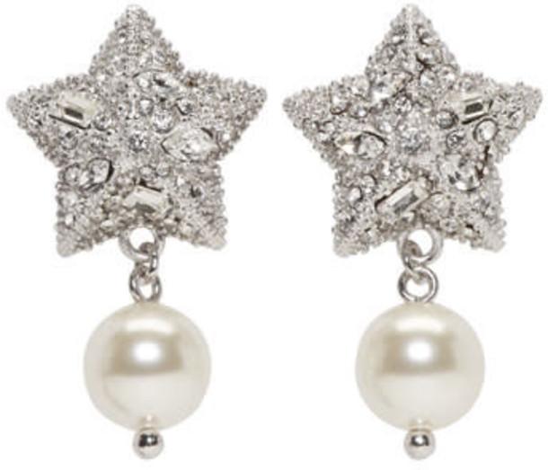 Miu Miu pearl earrings silver jewels