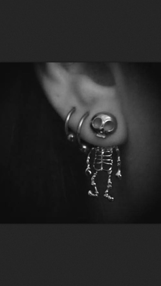 jewels skeleton earing