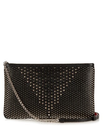 embellished pouch silver black bag