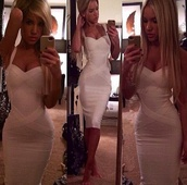 dress,dress white tight bandage