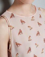 blouse,fox,beige,tank top,girl,pink,animal,print,nude,shirt,sleeveless,t-shirt,cotton t-shirt,mens t-shirt,printed t-shirt,Graphic T-shirts,womens t-shirt,white t-shirt,graphic tee,dress,prom dress,gown
