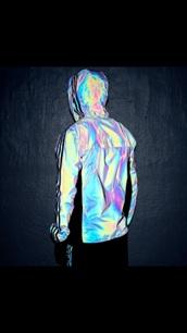 jacket,nike,adidas,dope,reflective,nike reflective white jacket,jordans,adidas reflective jacket,iridescent,windbreaker,holographic