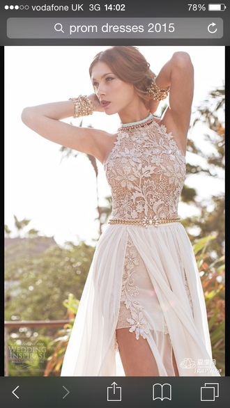 dress prom dress promdress gold sexy long