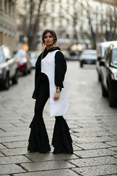 madame rosa,blogger,sweater,pants,top