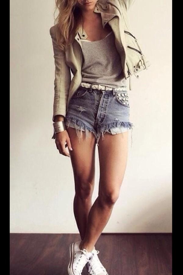 shorts coat jacket beige zip