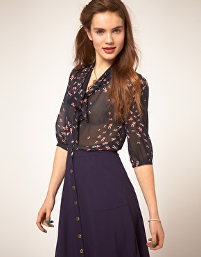 Wear shirt with pussy bow tie at asos