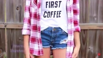 blouse brandy melville girl red blouse gingham grunge vintage indie style 90s style