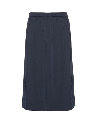 culottes satin navy pants