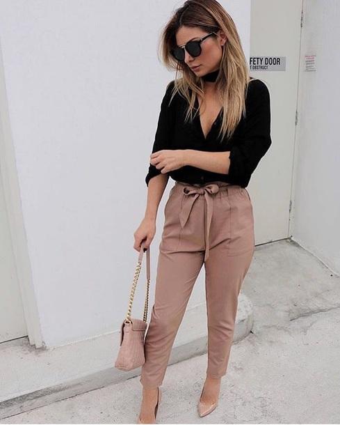 blouse brown tan