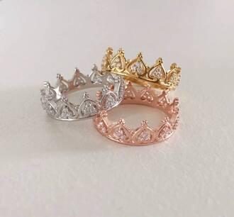 jewels ring queen princess gold silver copper crown