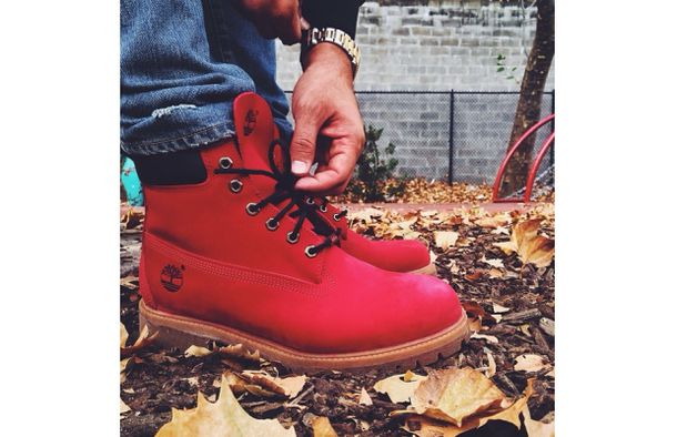 Shoes: boots, timberland, timberlands, winter boots, red ...