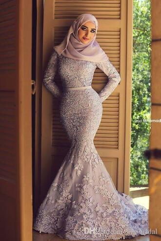 dress long sleeve wedding dress lavender evening gowns long sleeves engagement party dress lace evening dress long prom dress long dress lace dress mermaid prom dress gorgeous gorgeous dress