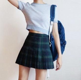 skirt plaid pleated skirt plaid skirt back to school