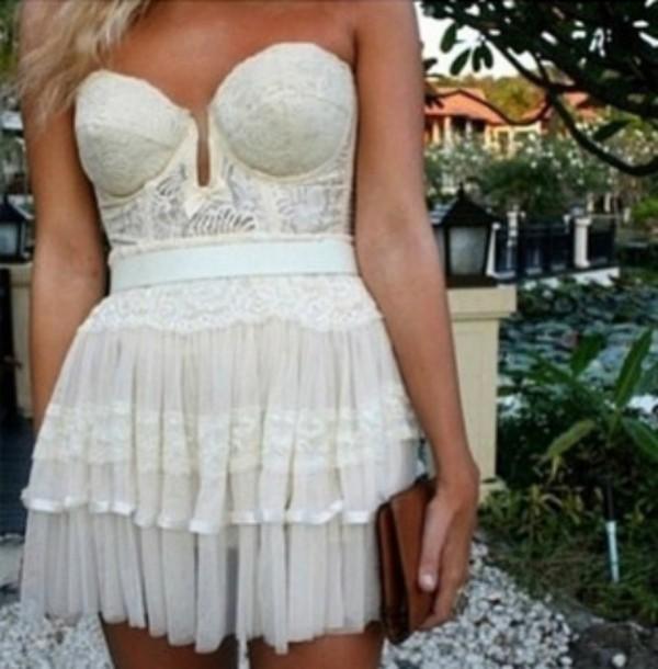 Tumblr White Lace Dress Dress Lace Whi White Mini