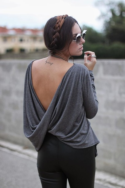shirt backless