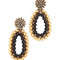 Marni clip on earrings with strass - old gold