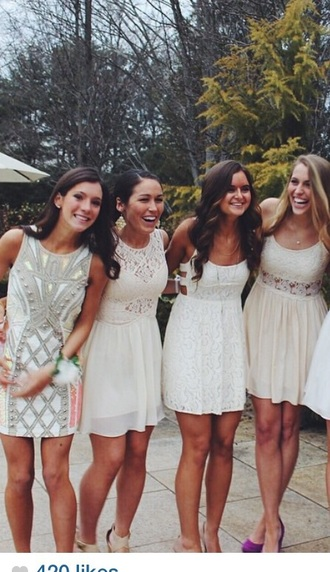 dress friends bridesmaid white dress