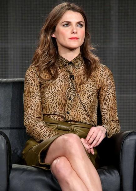 blouse animal print keri russell skirt