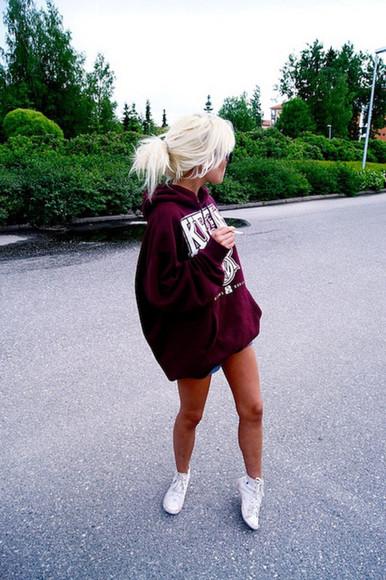 hoodie dark red