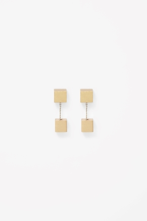 Cube bead earrings