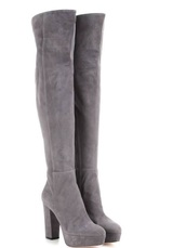 shoes,thigh high boots,high heels boots,grey boots