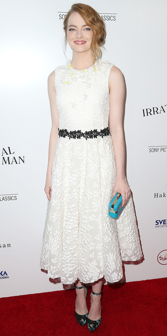 dress lace dress midi dress emma stone white dress white lace dress