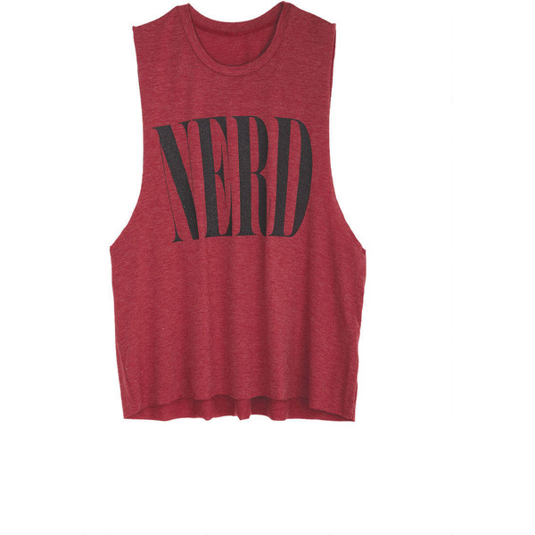 Sparkle Nerd Muscle Tank - Polyvore