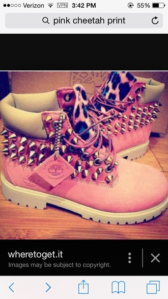 shoes pink timberlands