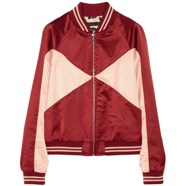 Marc by Marc Jacobs Paneled satin bomber jacket