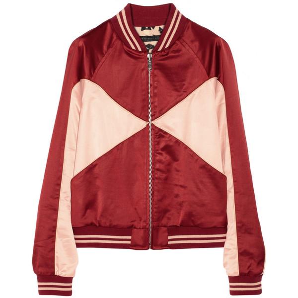 Marc by Marc Jacobs Paneled satin bomber jacket