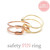girlsluv.it - SAFETY PIN adjustable ring,3 colors