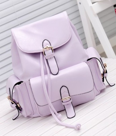 backpack bag pastel purple purple bag