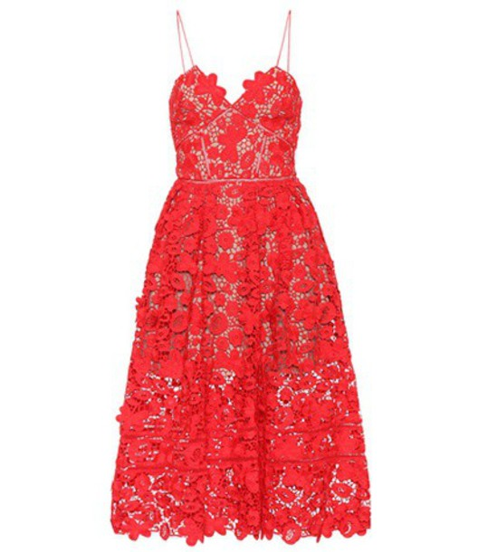 dress midi dress midi lace red