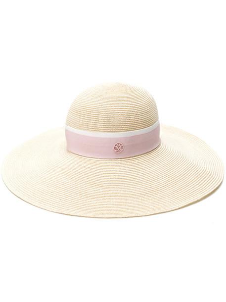 Maison Michel women hat straw hat nude