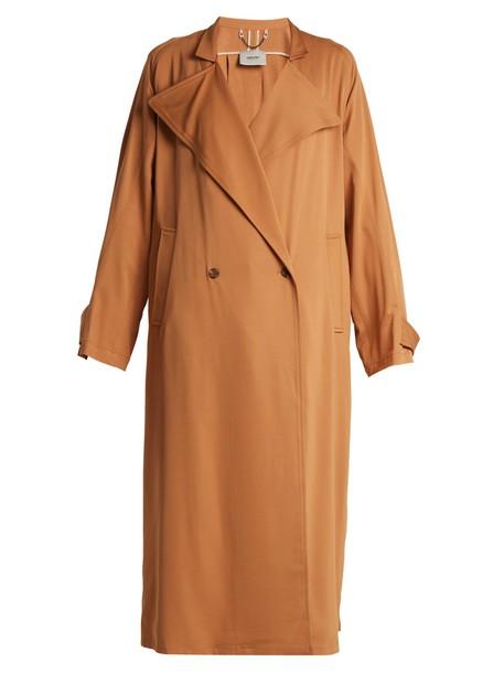 Rachel Comey coat trench coat oversized camel