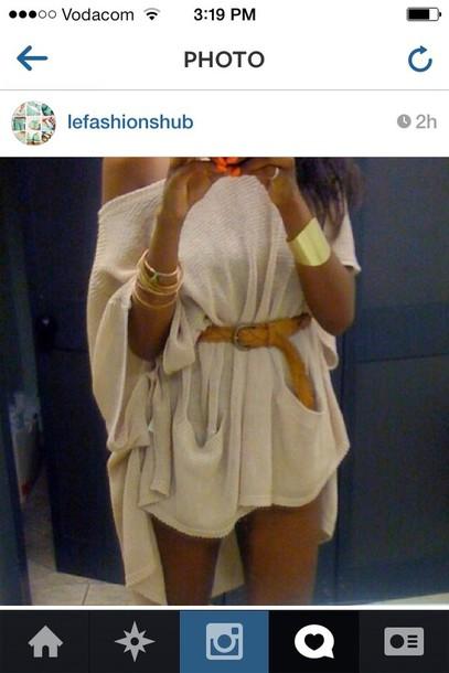 dress beige dress nude dress one shoulder loose high low summer dress chilled beautiful sweater dress knitted dress