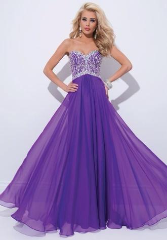 dress purple dress purple prom dress sequins long dress long evening dress