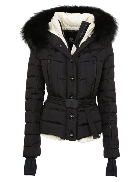 moncler jacket fur jacket fur black