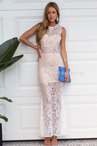 dress white lace dress lace dress nude dress nude helpmefindthis australia jewels