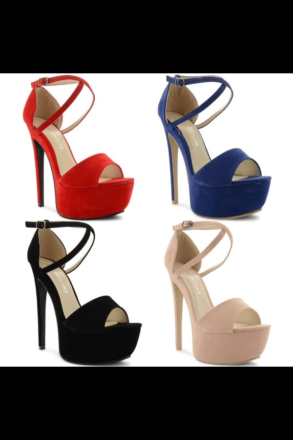 shoes sandals platform shoes high heels red blue nude black strappy sandals strappy heels sexy hot
