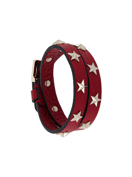 RED VALENTINO studded women leather red jewels
