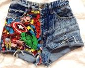 shorts,marvel,denim